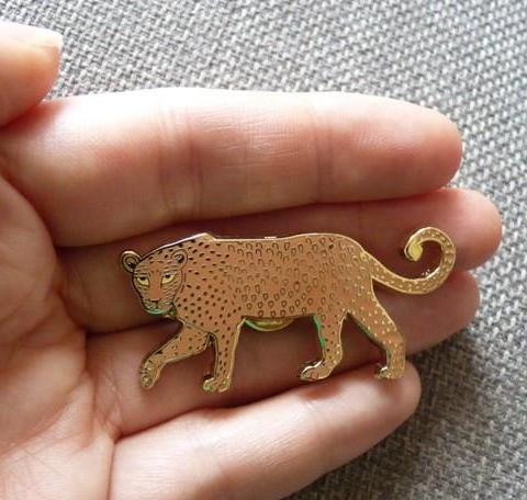 Leopard Pin Brooch