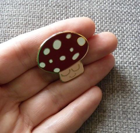 Mushroom Pin Brooch *last one - Kate Garey