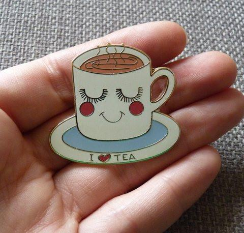 Tea Cup Pin Brooch - Kate Garey