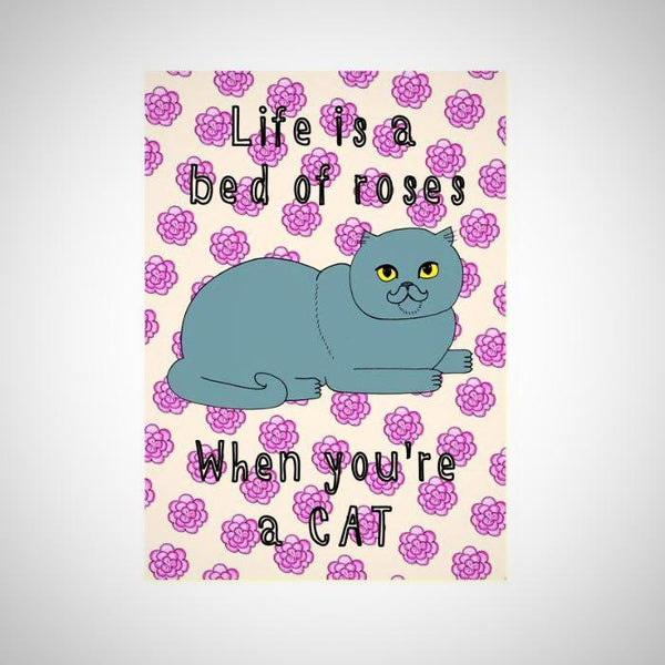 Cats Rosie Life A4 Print - Kate Garey