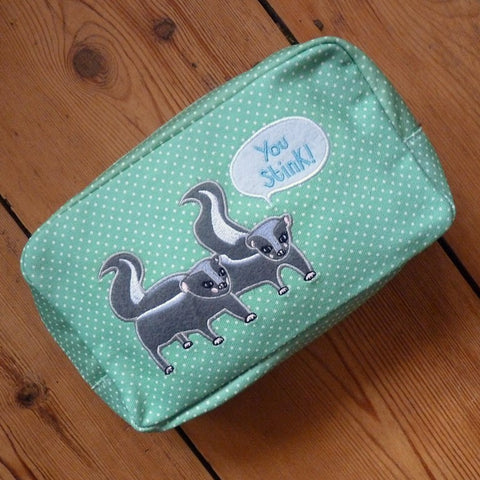 Skunks Cosmetic Bag - Kate Garey