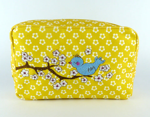 Blue Bird cosmetic bag - Kate Garey