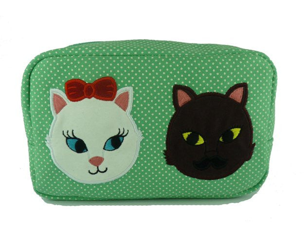 Kitty Crush Cosmetic Bag - Kate Garey