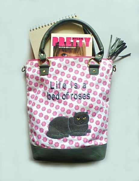 Rosy Cat Canvas Tote - Kate Garey
