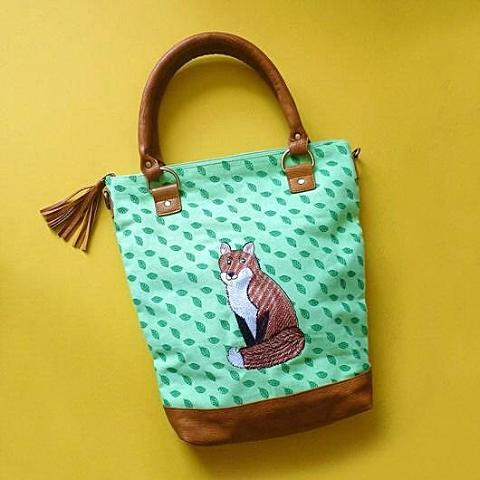 Mr Fox Green Canvas Tote - Kate Garey