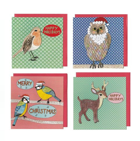 Christmas Blue Tits Card - Kate Garey