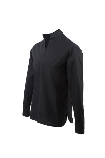 Grandad Collar Black Shirt