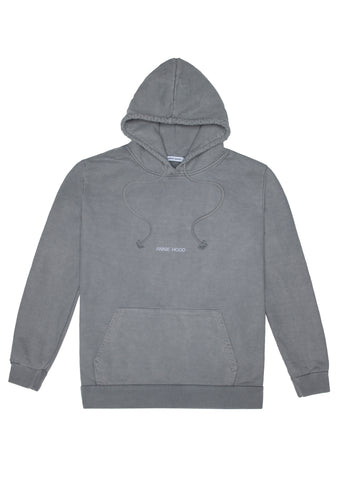 AH ESSENTIAL HOODY - WASHED GREY