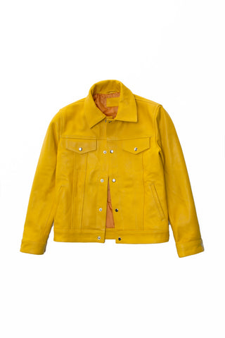 LAMBSKIN TRUCKER - YELLOW