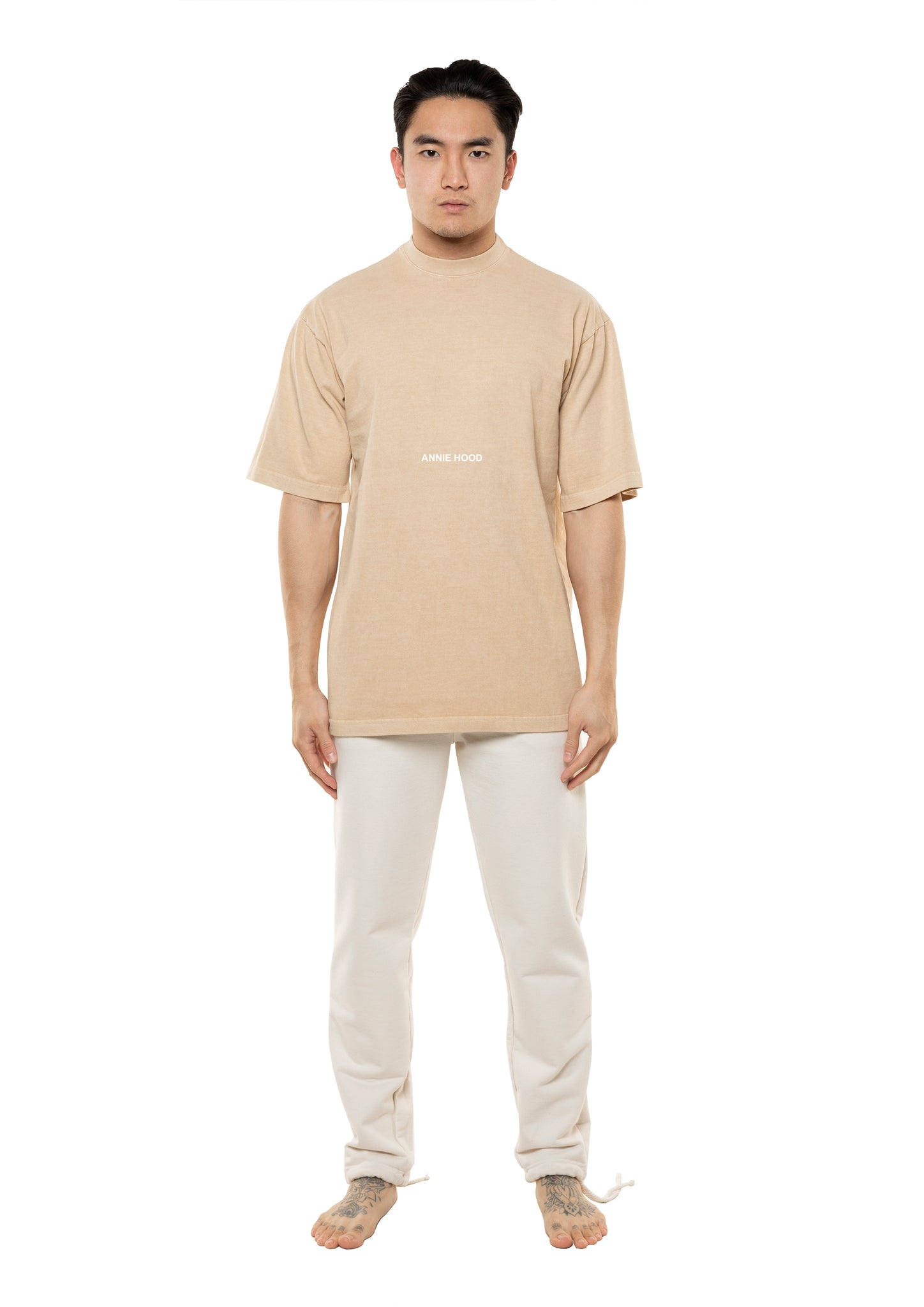 AH ESSENTIAL TSHIRT - WASHED BEIGE *AVAILABLE 01/DEC*