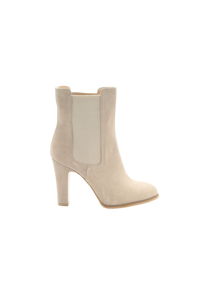 WOMENS CHELSEA BOOTS IN POWDER BEIGE