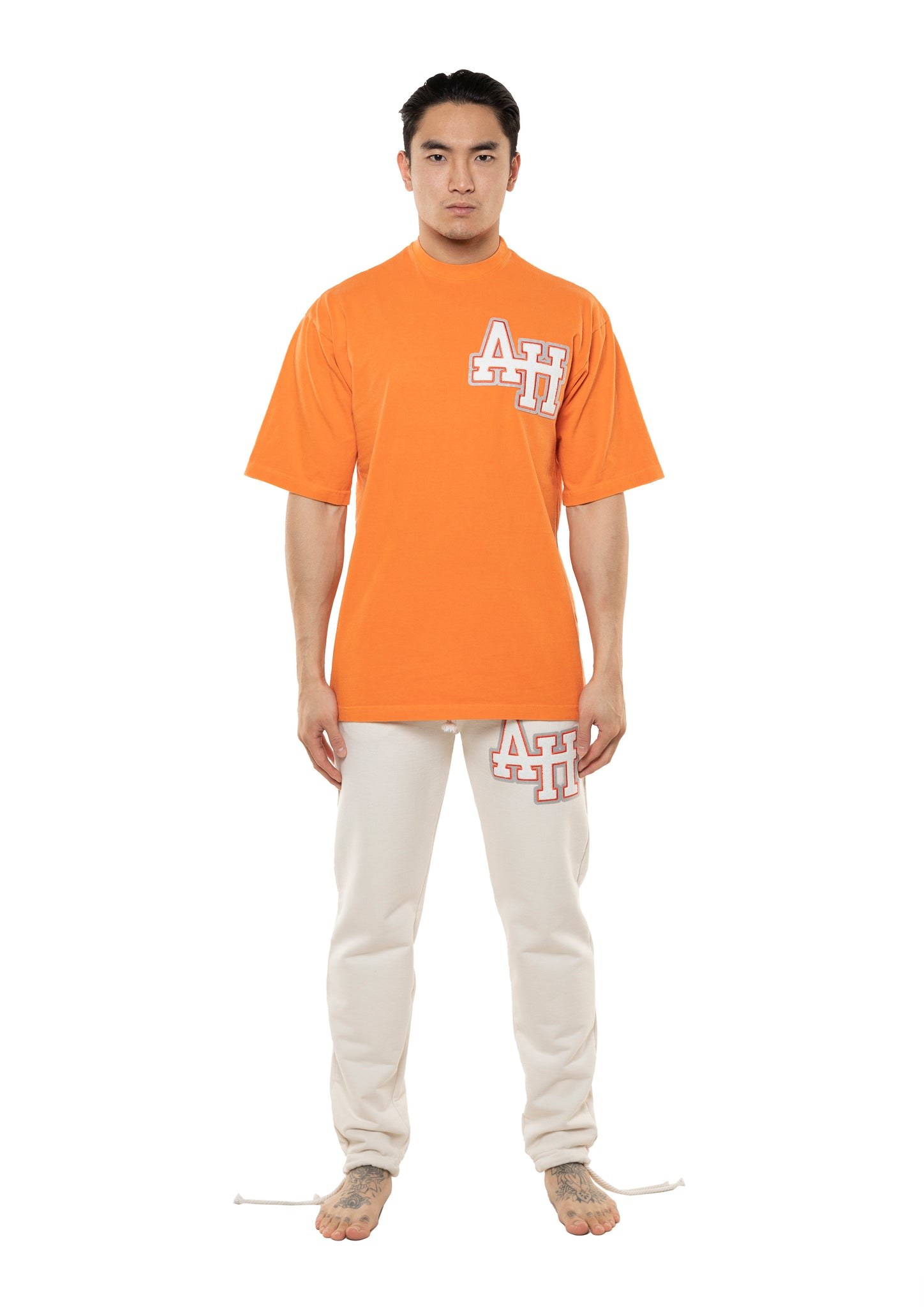 AH COLLEGE TSHIRT - WASHED ORANGE