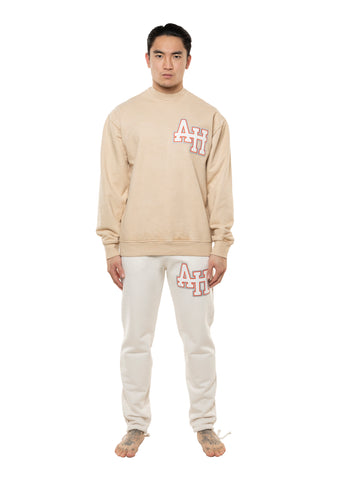 AH COLLEGE JUMPER - BEIGE