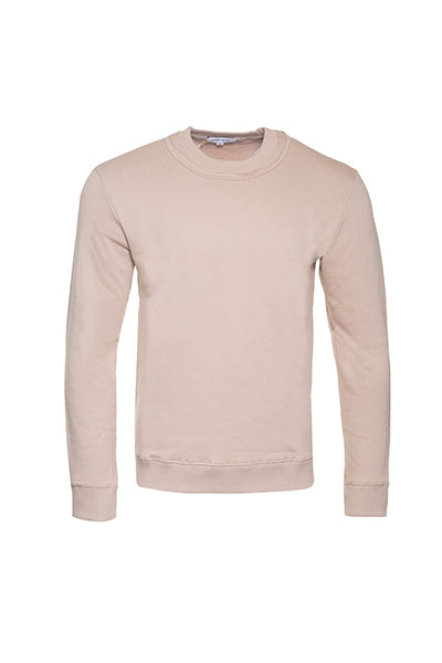 Blush Beige Neck Detail Pullover