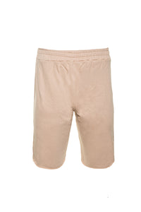 RAW EDGE SHORTS IN BLUSH BEIGE