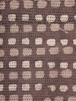 Brown Beige Hand Block Printed Cotton Cambric Fabric Per Meter - F0916397