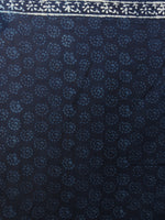 Indigo Ivory Hand Block Printed in Natural Colors Cotton Mul Saree - S031701082