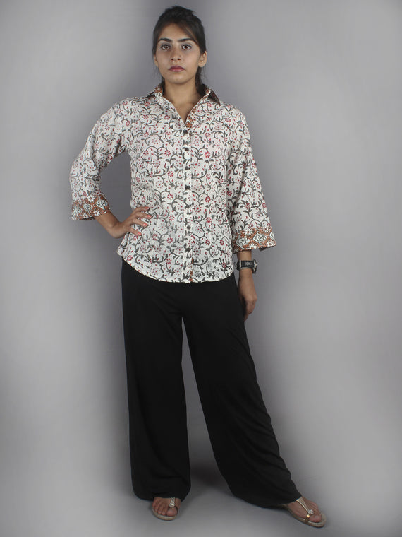 Multi Color Hand Block Printed Shirt- S3517011