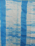 Azure Blue Ivory Multi Color Hand Shibori Dyed With Kalamkari Pallu Chanderi Silk Saree - S031701217