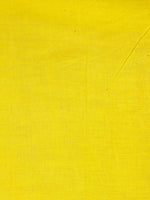Indigo Yellow White Hand Dyed Cotton Mul Saree  - S03170462