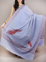 Lavender Purple Brown Red Pure Wool Jalidour Koundar Cashmere Shawl From Kashmir - S200404