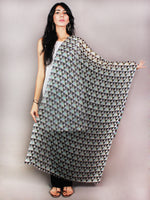 Off White Multi Colour Pure Wool Stole from Kashmir - S6317088