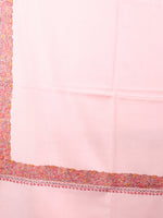 Baby Pink Black Yellow Pure Wool Nemdor Cashmere Shawl From Kashmir - S200501