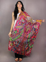 Multi Colour Digital Print Pure Wool Cashmere Stole from Kashmir - S6317101