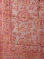 Pink Yellow Ivory Jamawar Pure Wool Cashmere Stole from Kashmir - S6317109