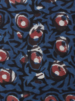 Black Indigo Maroon Hand Block Printed Cotton Cambric Fabric Per Meter - F0916441