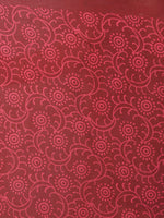 Maroon Pink Beige Hand Block Printed in Natural Colors Cotton Mul Saree - S03170694
