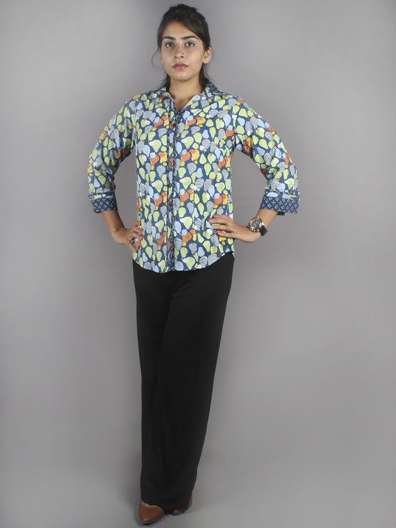 Multi Color Hand Block Printed Shirt- S3517007