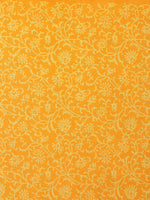 Yellow Ivory Hand Block Printed in Natural Colors Cotton Mul Saree - S03170706