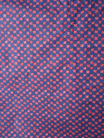 Navy Blue Red Hand Block Printed Cotton Fabric Per Meter - F001F1862