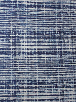 Indigo White Natural Dyed Hand Block Printed Cotton Fabric Per Meter - F0916206