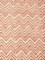 Beige With Red Color Natural Dyed Hand Block Printed Cotton Fabric Per Meter - F0916228