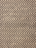 Beige Black Natural Dyed Hand Block Printed Cotton Fabric Per Meter - F0916243