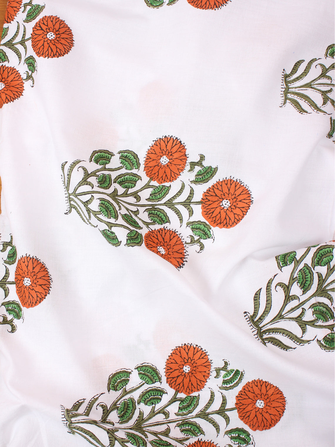 Multi Color Natural Dyed Hand Block Printed Cotton Fabric Per Meter - F0916260