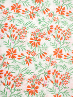 Multi Color Natural Dyed Hand Block Printed Cotton Fabric Per Meter - F0916263