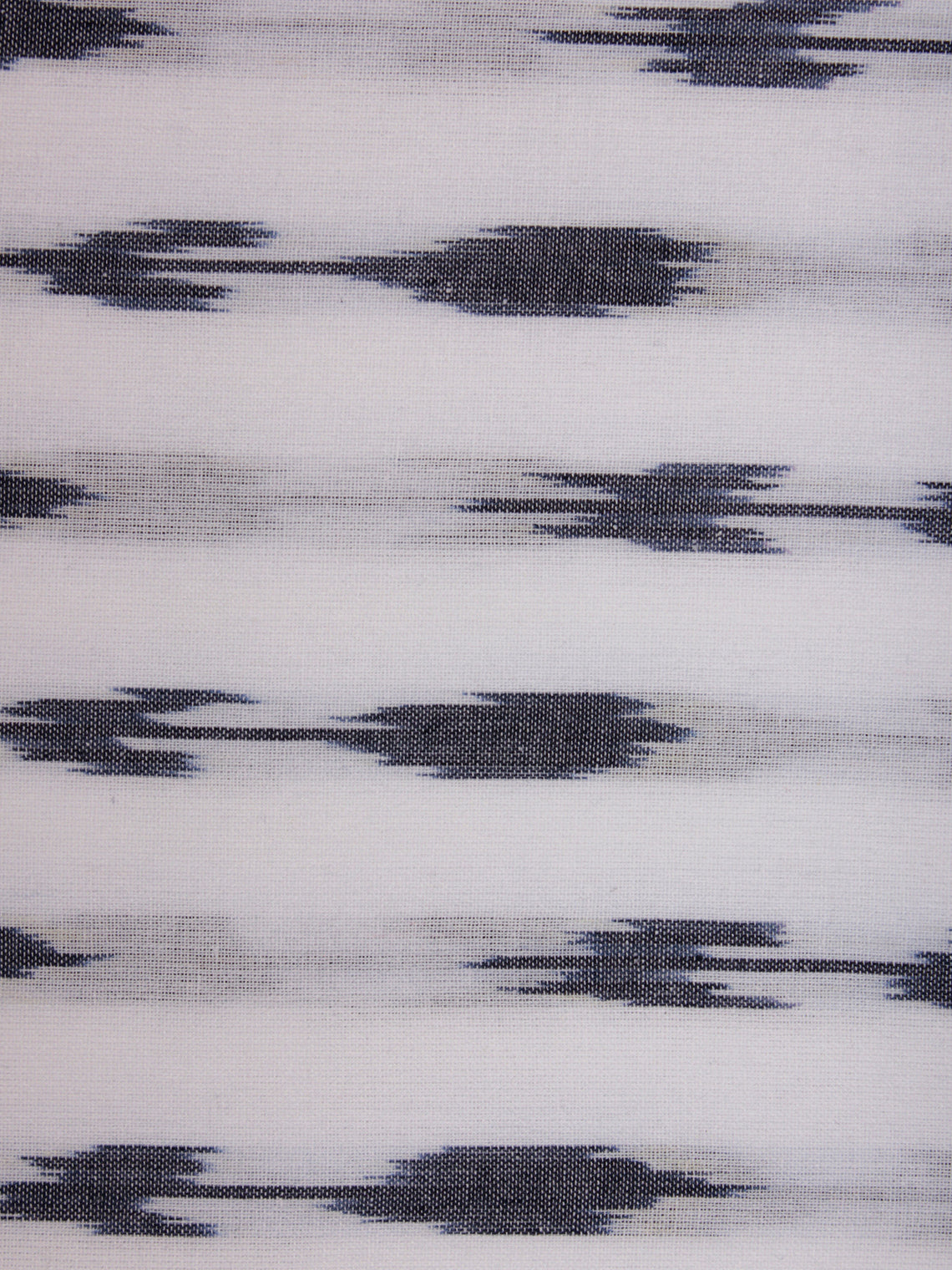 White Grey Pochampally Hand Weaved Ikat Fabric Per Meter - F002F816