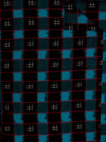 Black Blue White Pochampally Hand Weaved Double Ikat Fabric Per Meter - F002F823