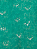 Green White Hand Block Printed Kota Doria Saree in Natural Colors - S031702913