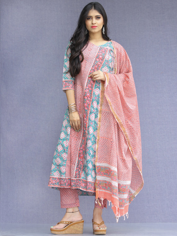 Jashn Inaya - Set of Kurta Pants & Dupatta - KS62A2267D