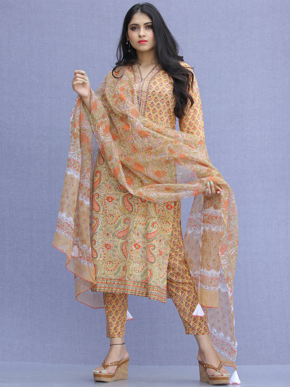 Jashn Mehreen - Set of Kurta Pants & Dupatta - KS60B2272D