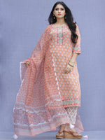 Jashn Shirat - Set of Kurta Pants & Dupatta - KS64A2341D