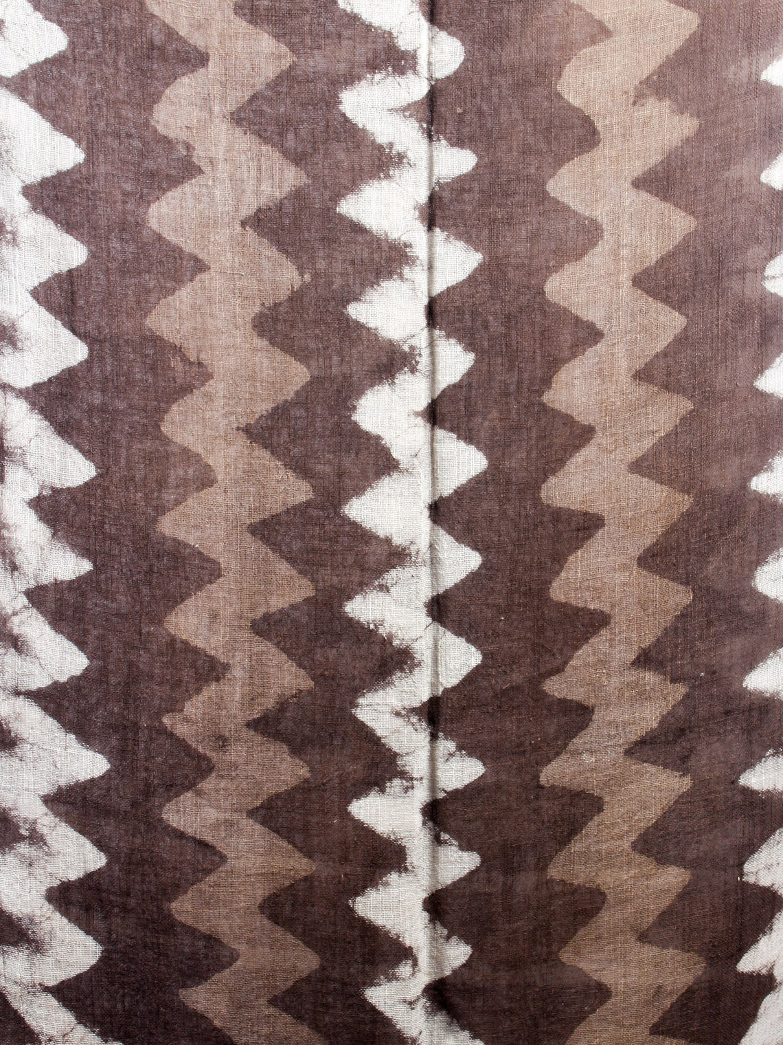 Brown Bagru Hand Printed Handloom Cotton Stole- S6317006