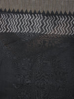 Black Red Leheria Hand Block Printed in Natural Vegetable Colors Chanderi Saree With Geecha Border - S03170379