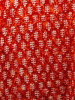 Red Orange White Hand Block Printed Kali Skirt  - S40F311