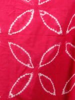 Pink White Shibori Hand Block Printed Straight Skirt With Side Slits - S40F265