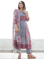 Jashn Gulshan - Set of Anarkali Kurta Pants & Dupatta - KS05A2494D